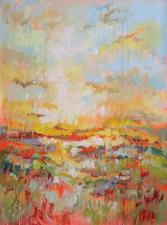 "Saatchi Art Artist Marta Zawadzka; Painting, ""Sunny Meadow (SOLD)"" #art"
