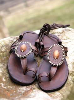 Leather Hippies sandals   LACE by Hippiestyle on Etsy, $65.00