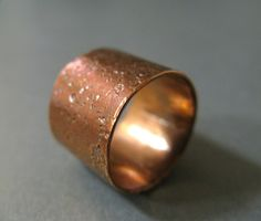 Rustic Copper Unisex Wide Ring Hammered by MischiefbyLoki on Etsy, $32.00