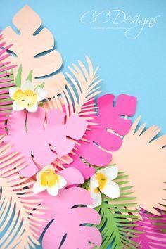 94ab9622ae28 Paper Leaf   Vine Templates Tropical Paper Flowers Banana