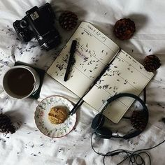 """Bullet journalling, tea, homemade goods and a chill out playlist are my favourite way to wind down because they all just melt together as a comfort. It may sound strange but planning and getting everything onto paper or just out into the """"world"""" from in my head makes me feel better. It makes me feel calmer, more focused and less heavy. What is everyone else up to this weekend?  #whpbettertogether #littlestoriesofmylife #slowweekend"""