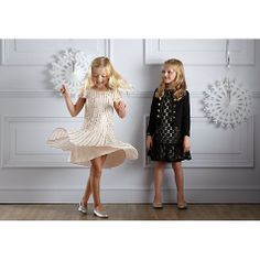 Girls' Drop Waist Sequin Dress