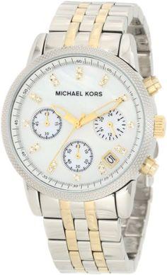 Michael Kors Women's MK5057 Ritz Two Tone Watch (Silver): Watches: Amazon.com