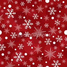 Printred christmas snowflakes seamless pattern — Image vectorielle Juliedeshaies © #58469985
