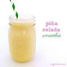 Piña Colada Smoothie! #vegan #glutenfree #lowfat #smoothie | VegAnnie.com