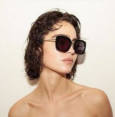 Pure beauty Cecilia Gomez wearing our model LANA in black acetate