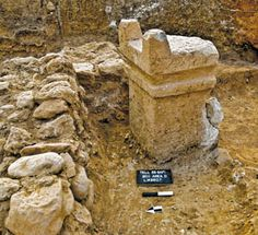 Where Did the Philistines Come From? This nearly 4-foot-tall, two-horned altar from the site of Tell es-Safi (Gath of the Philistines) suggests the origins of the Philistines are to be sought in the Aegean world.