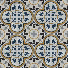 Cement Tile Shop - Encaustic Cement Tile Floret VI Flooring, House Interior, Indian Home Interior, Cement Tile Shop, Polished Cement, Tile Patterns, Home Decor, House Flooring, Cement Tile