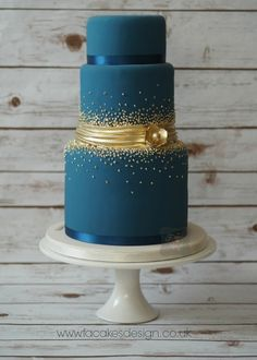 gold dots wedding cake - Google Search