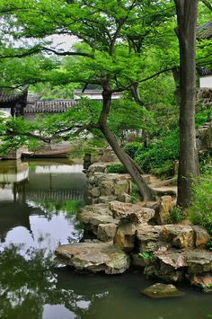 "Beautiful Suzhou, China's ""Venice of the East"" where the classical gardens were added to the list of the UNESCO World Heritage Sites in 1997 and 2000 (December 2004, 2006 and again in September 2010). Humble Administrator's Garden III - Suzhou, Jiangsu"
