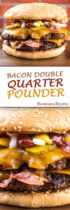 Raymond's Food | Bacon Double Quarter Pounder With Cheese