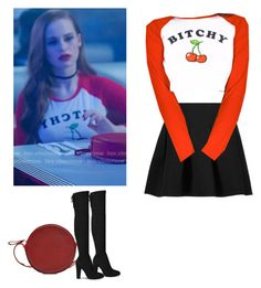 Cheryl Blossom - Riverdale by shadyannon on Polyvore featuring polyvore fashion style T By Alexander Wang Diane Von Furstenberg clothing