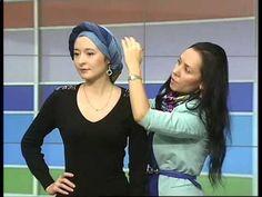 Как красиво завязать платок на голову (тюрбан-чалму) — Яндекс.Видео