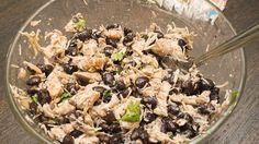 making Trim Healthy Mama black bean chicken quesadillas