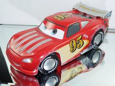 DISNEY PIXAR CARS ARTIST SERIES 1:18 CUSTOM HOT ROD LIGHTNING MCQUEEN DETAILED #DISNEY Check out boundlessbargains.com for more great deals. Thank you.