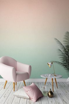 Love this colour palette? Peachy tones gently fade into a rejuvenating minty…