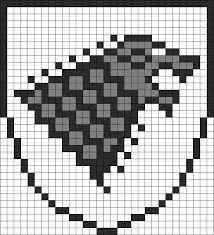 Resultado de imagem para perler beads game of thrones