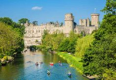 Warwick Castle, on the river Avon