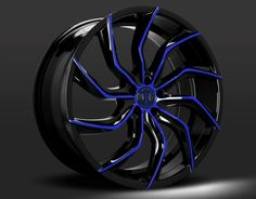 Custom - Gloss Black with Blue Accents