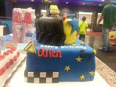 """Dual"" cake...star wars/monster truck"