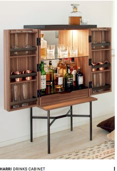Harri Bar Cabinet With LED Lighting. This item has been created by Peter Fehrentz for the label More.