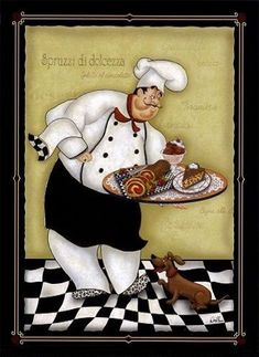 Neoteric Chef Wall Decor Art Print Fat Kitchen Oven Wallpaper And Grill Hd Electric Manual Part Decoupage Vintage, Decoupage Paper, Vintage Diy, Chef Pictures, Kitchen Pictures, Kitchen Pics, Kitchen Oven, Kitchen Stuff, Fat Chef Kitchen Decor