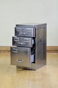 vintage steel furniture. Simple Steel Polished Steel Combo File Cabinet And Vintage Furniture