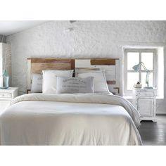 T te de lit en bois recycl l 160 cm d co chambre monet pinterest orlan - Tete de lit bois maison du monde ...