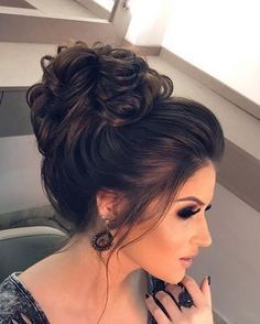 50 Fabulous Braided Updo Hairstyle Women Ideas - Claire C. - nesliim - 50 Fabulous Braided Updo Hairstyle Women Ideas - Claire C. Elegant Wedding Hair, Wedding Hair And Makeup, Hair Makeup, Hair Wedding, Bridal Hair Updo High, Messy Wedding Updo, Prom Hair Updo Elegant, Elegant Updo, Wedding Veils