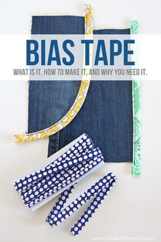 BIAS TAPE: what is it, how to make it, and why you NEED it! (VIDEO included)
