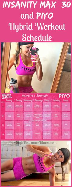 CLICK the pin to see my Hybrid Calendar of two of my favorite programs, Insanity Max: 30 and PiYo!! REPIN if you want to try this :-) (Fast Diet Schedule)