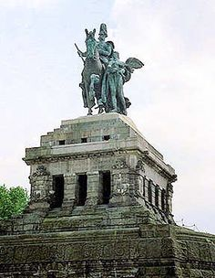 Koblenz, Deutsches Eck mit Kaiser Wilhelm-Denkmal 2004