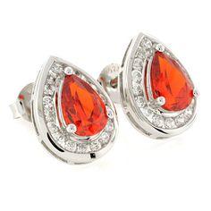 Image detail for -Silver Jewelry Earrings Silver Mexican Fire Cherry Opal Earrings