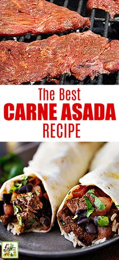 The Best Carne Asada Recipe Looking for an easy carne asada recipe? Try the Best Carne Asada Recipe Ever! You'll love this carne asada marinade for grilling or the slow cooker. Great for Taco Tuesday or Cinco de Mayo parties. Grilling Recipes, Meat Recipes, Mexican Food Recipes, Cooking Recipes, Quick Recipes, Carne Asada Marinade, Authentic Mexican Recipes, Best Carne Asada Recipe, Carne Asada Recipes Easy