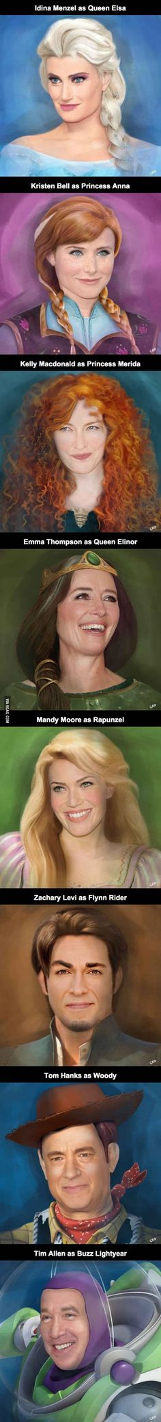 People behind Disney's voices as their characters