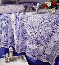 Crochet: crochet tablecloth - diagram