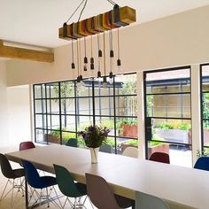 Little snap of a recently finished project, the light is a custom design I created. Would you like to eat breakfast here this morning... croissant anyone? www.claretopham.com ☕🥐. #interiorwarrior #acornerofmyhome #londonhomes #crittalldoors #besokelighting # My Design, Custom Design, Interior Design London, London Brighton, Crittall, Eat Breakfast, Croissant, Ceiling Lights, Lighting