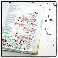 Bible Art Journaling zu Psalm 39