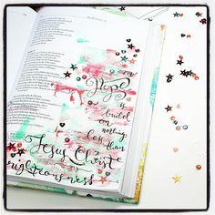 Bible Art Journaling zu Psalm 39