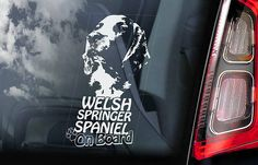 Car Window Sticker V02 Breton on Board French Brittany Spaniel Dog Decal
