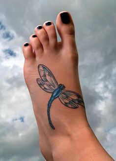 dragonfly foot - beautiful colours