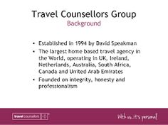 History of Travel Counsellors #carolynstanley  #travel