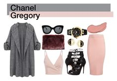 """""""Chanel Gregory 1"""" by vj1234 on Polyvore featuring Sans Souci, Alexander McQueen, CÉLINE, Chanel, Versace and NYX"""