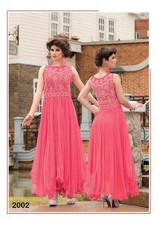 Latest Stylish Pink Long Net Gown