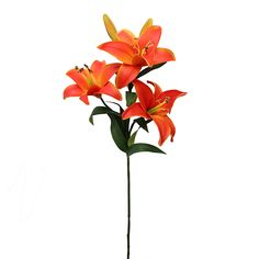 Real Touch Orange Lilies | Wedding Flowers | Hassle Free Shipping
