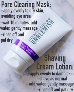 Rodan + Fields Unblemish doubles as a pore clearing mask and a shave cream! You need this