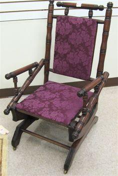 Antique Glider Rocker Chairs | Antique Eastlake Platform Rocker Rocking Chair 1800s !!