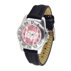 Ladies Mother of Pearl Leather Sport Watch. Yes. All the way.