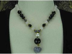 1/Kind Romantic and Unique Necklace w/Onyx, South Sea Shell Pearls, Hematite! 1/Kind Romantic and Unique Necklace w/Onyx, South Sea Shell Pearls, Hematite! 1/Kind Romantic and Unique Necklace w/Onyx, South Sea Shell Pearls, Hematite!
