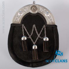 Young Clan Crest Cross Chain Sporran. Free worldwide shipping available